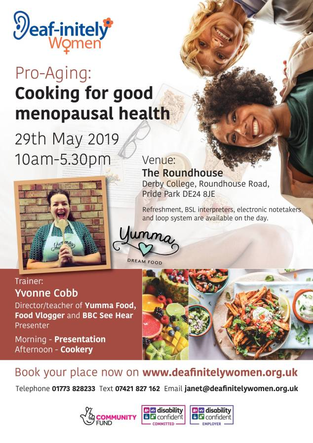 Pro-Aging - Cooking for good menopausal health - 29.5.19 - Derby